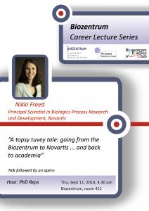 Career seminar poster Nikki