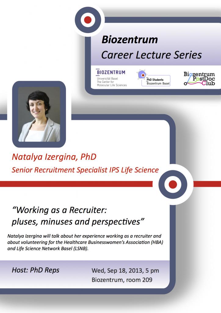 Career seminar poster_Natalya Izergina